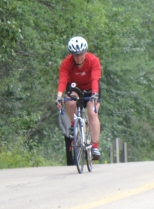 Finishing 40 km bike at Miquelon Lake