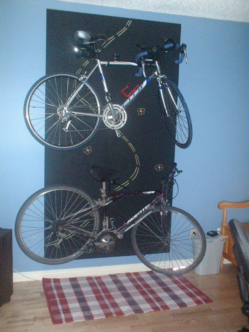 bike wall chalk board